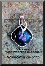 3-Strand Wire Wrapped Cabochon