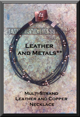 Multi Strand Leather and Copper Necklace web button