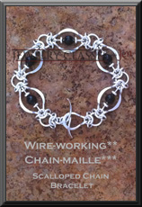 Scalloped Chain Bracelet 2x3 wm WB