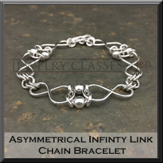 Pic of Asymmetrical Infinity Link Bracelet