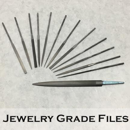 Image of various jewelry grade metal files