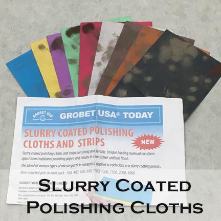 Slurry coated polishing cloths