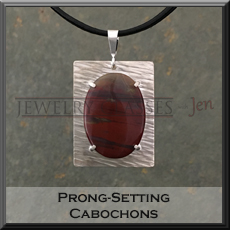 Pic of Prong-set cabochon pendant