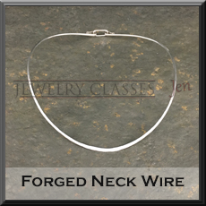 Photo and link button of the forged neck wire project.