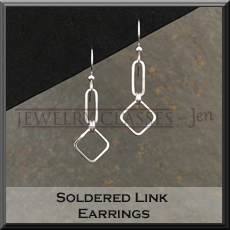 Picture of the soldered link earrings project