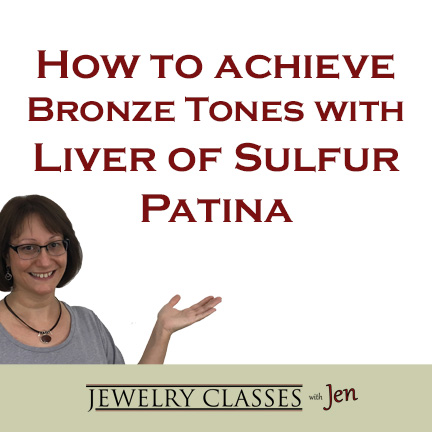 Branded graphic -How to achieve bronze tones with Liver of sulfur patina
