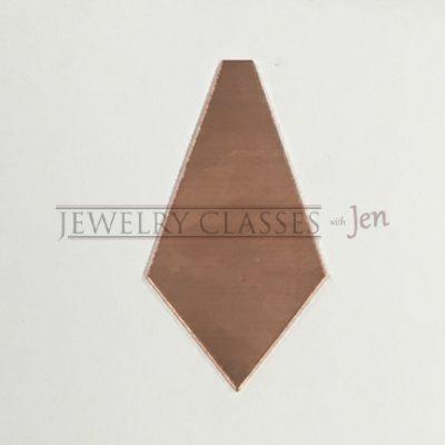 Pentagon Copper Jewelry Blank 1-5 in long