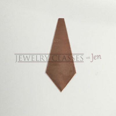 Pentagon Copper Jewelry Blank 2 in long