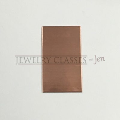 rectangle copper jewelry blank