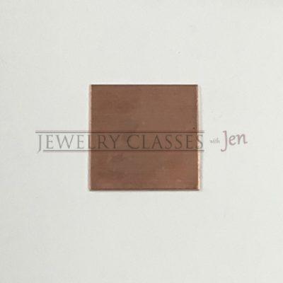 square copper jewelry blank